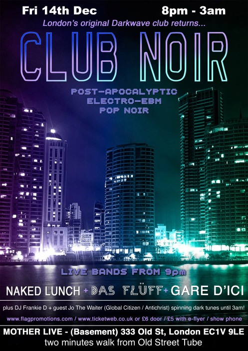 CLUB NOIR NAKED LUNCH